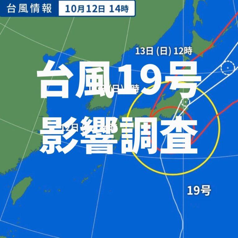 台風19号影響調査